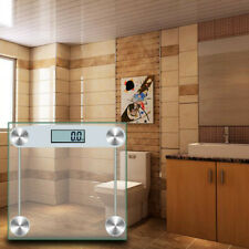 330lb 150KG Bathroom Digital Electronic Glass Weighing Body Fitness Weight Scale