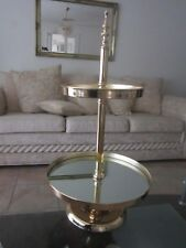 Lux Gold 2 Two Tier Mirror Cake Stand- Wedding Cupcake Display Plate Tray 68cm H