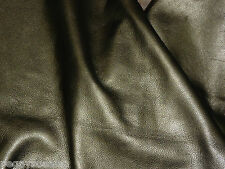 "Leather 8""x10"" Muted Gold Pearlized SOFT Cowhide Hide THICK 3.5-4 oz/1.4-1.6 mm"
