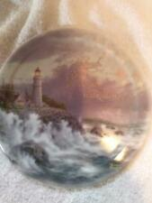 Collectible Decorative Plate Thomas Kinkade Lighthouse Limited Edition.