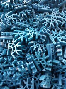 Micro K'Nex 4 Way 3D Connector Blue x 25 DW2123 Job Lot Wholesale Bulk Buy