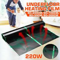 Electric Home Floor Infrared Underfloor Heating Warm Film Foil Mat 220W 220V U