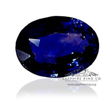 GIA Certified Untreated 5.39 ct Blue Ceylon Natural Sapphire