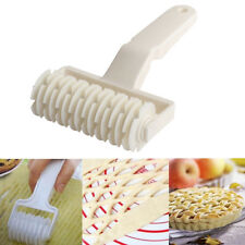 Pie Pizza Bread Pastry Baking Decoration Tools Lattice Roller Cutter Rolling Pin