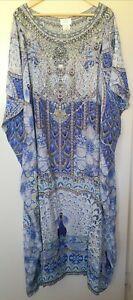 nwt Camilla Peacock Kaftan round neck Silk One Size