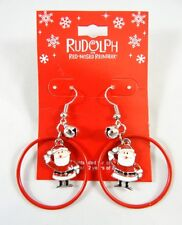 New Santa Claus from Rudolph the Red Nose Reindeer Christmas Earrings #E1206