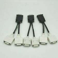 Lot of 3 Dell Molex DMS-59 Male to Dual DVI-I Female Y Splitter Cable Adapter
