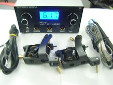 pro tattoo machines shader,liner,or col,dual digital power supply,pedal & cord