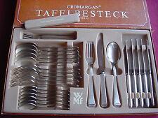 WMF 2500 Dessertbesteck 6 Personen 30 teilig 90er versilbert Messer Glattschliff
