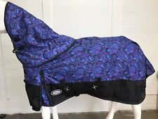 AXIOM 1800D BALLISTIC WATERPROOF PAISLEY 300g HORSE RUG w/h DETACHABLE NECK 6' 3