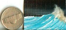 ORIGINAL 1x1.5 Acrylic Dollhouse Painting Seascape Ocean Waves Sea Spray HYMES