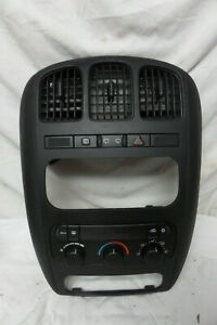 01-07 Dodge Voyager Radio Stereo Climate Control Panel Dash Trim Bezel 05005001
