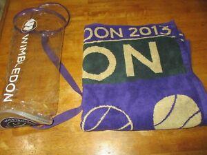 Rare Genuine 2013 Wimbledon England Tennis Men's Championships Towel w/bag 27X52