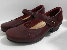 NWOB Earth Clover Womens Bordeaux Leather Mary Jane Heels Shoes Size 7 D