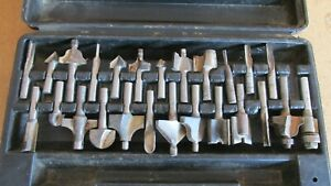 Assorted router bits  25 total
