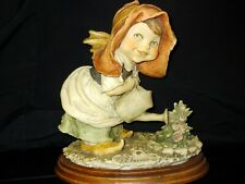 G Armani Gulliver's World Girl with Watering Can Figurine Capodimonte