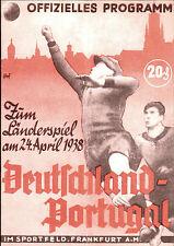 Länderspiel 24.04.1938 Deutschland - Portugal (Reprint)