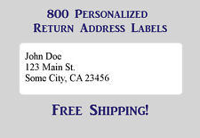 800 Printed Personalized Return Address Labels - 1/2 x 1 3/4 Inch