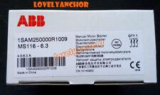 1PC ABB MS116-6.3 4.0-6.3A Circuit Breaker Manual Motor Starter