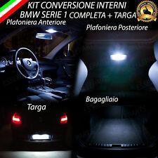 KIT LED INTERNI COMPLETO PER BMW SERIE 1 E87 + LED TARGA CANBUS BIANCO NO ERROR