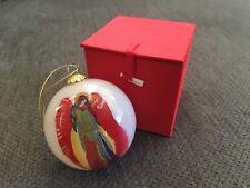 Traci Rabbit Cherokee Art Round Glass Reverse Painted Angel Christmas Ornament
