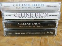 Cassette Tape Lot CELINE DION Colour Falling Let's Talk Love Special Times x4