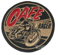 Cafe Racer Vintage Round Biker EMBROIDERED Iron on / sew on PATCH BADGE 204