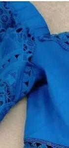 Ted Baker Blue Bardot dress Size 4