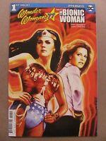 Wonder Woman 77 Bionic Woman #1 DC Dynamite 2017 Series 9.6 Near Mint+