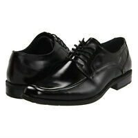 Stacy Adams CALHOUN Mens Black Leather Lace-Up Comfort Moc Toe Dress Shoe