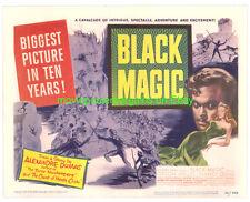 Negro MAGIC1949 Vestíbulo Tarjeta Pb VF 27.9x35.6cm Tamaño Póster Película Orson