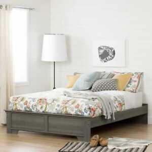South Shore Versa - Platform Bed Queen Gray Maple