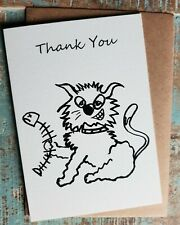 Greetings card Thank you  Webster the Cat cartoon funny British made Blank