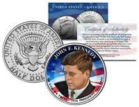 PRESIDENTIAL $1 JOHN F KENNEDY on Colorized 2015 JFK Half Dollar U.S. Coin