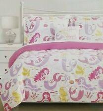 3 pc Mila + Molly Mermaid Twin Comforter, Sham, & Deco Pillow Set Nip