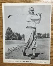 Vintage Golf PGA Gene Sarazen Wilson Staff Advisory Photo/Picture Original/Rare