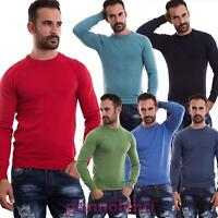 Maglione Pullover uomo maglioncino maglia Slim Fit girocollo Invernale MF-7999