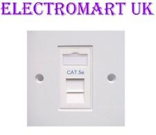 SINGLE CAT5e WALL OUTLET FACEPLATE RJ45 NETWORK SOCKET