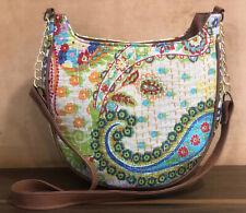 Indian Paisley Kantha Women Bag Boho Cotton Sling Bag Handmade Shoulder Bag
