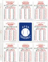 2019 APBA MLB TEAM SET OF THE 2019 CHICAGO WHITE SOX JOSE ABREU