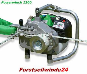 EDER Spillwinde Powerwinch ESW 1200, Forstseilwinde, + 100m Zugseil