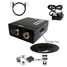 Digital Optical SPDIF Toslink Coaxial to Analog Audio Converter Adapter VOL TV