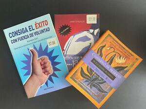 Lote 3 Libros: Cuaderno de trabajo de los cuatro acuerdo, consiga el exito