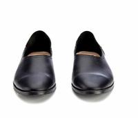 WtR Black Leather Journey Flat Slip On Slipper Shoe EUR 37 UK4 RRP£210