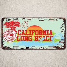 LP0168 Old Vintage California Long Beach Sign Auto License Plate Home Gift Decor