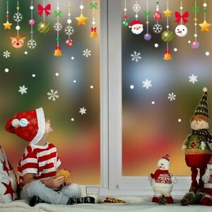 New Christmas Decor Win-dow Sticker Snowflake Wall Decal Xmas Home Shop Ornement