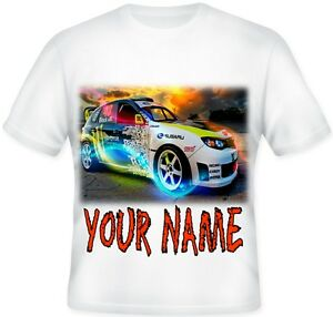 BOYS Top Personalised Rally Racing Sport SUPER CAR T Shirt Great Gift!