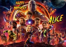 Infinity War Wars Avengers Thanos Personalised Happy Birthday Greeting Art Card