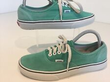Mens Vans Trainers Sneakers Low Lace Pumps Green Uk6/39 Casual