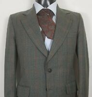 SAXON HAWK of Savile Row London HUNTING BESPOKE Tweed Suit,Size40R W32 L29.5